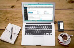 macbook con wordpress activo
