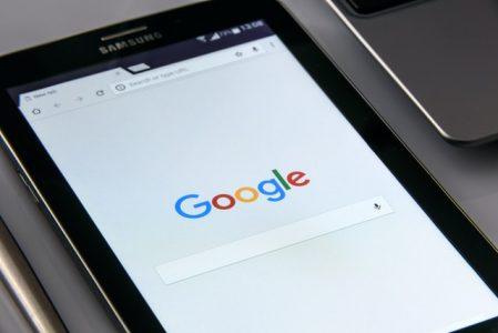 buscador google en una tableta